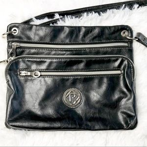 Relic black leather purse crossbody